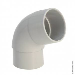 Coude 45° pour gouttière développé de 16 - GIRPI - Mâle-Femelle - Ø 50 mm - Gris