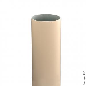 Tube de descente pour gouttière de développé 25 - GIRPI - PVC - Ø 80 mm - 4 ml - Sable