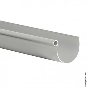 Gouttière demi-ronde développé 25 - GIRPI - 2 m - Gris - Vendu au mètre linéaire