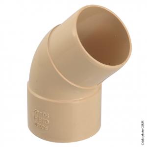 Coude 45° pour gouttière développé de 16 - GIRPI - Mâle-Femelle - Ø 50 mm - Sable