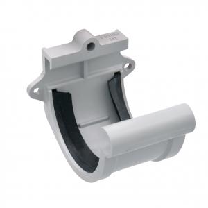 Jonction à joint pour gouttière développé de 16  - GIRPI - PVC - Gris