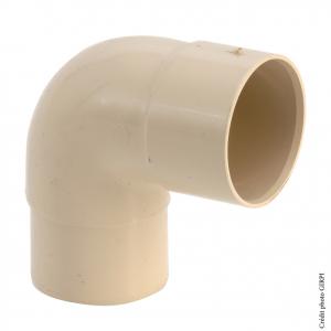 Coude 87°30 pour gouttière développé de 16 - GIRPI - Mâle-Femelle - Ø 50 mm - Sable