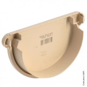 Fond unique de gouttière développé de 25 - GIRPI - PVC - Sable