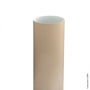 Tube de descente pour gouttière de développé 33 - GIRPI - PVC - Ø 100 mm - 4 ml - Sable