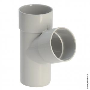 Culotte 67°30 pour gouttière développé 33 - GIRPI - Mâle-Femelle - Ø 50 mm - Sable