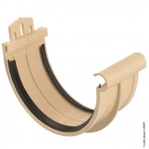 Jonction à joint pour gouttière développé de 33 - GIRPI - PVC - Sable