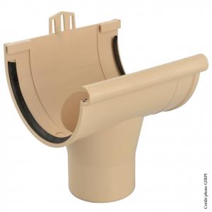 Naissance à joint pour gouttière développé de 33 - GIRPI - PVC - Sable