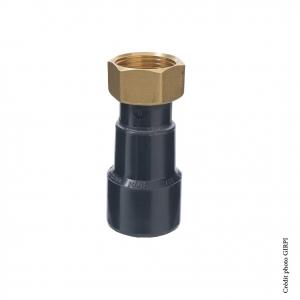 Union mixte PVC-Métal - GIRPI - Femelle - Ø 40 mm - Taraudage 1 1-4
