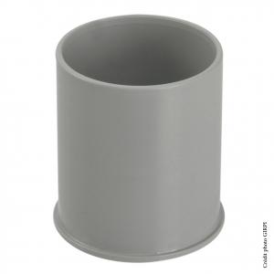 Manchon pour gouttière développé de 16 - GIRPI - Femelle-Femelle - Ø 50 mm - Gris