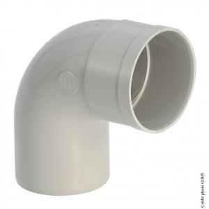 Coude 87°30 pour gouttière développé de 25 - GIRPI - Mâle-Femelle - Ø 80 mm - Gris