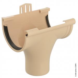 Naissance à joint pour gouttière développé de 25 - GIRPI - PVC - Sable