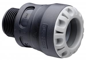 Raccord encliquetable - Mâle - Plasson Série 1 - Ø 20 mm - 15 x 21