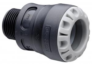 Raccord encliquetable - Mâle - Plasson Série 1 - Ø 32 mm - 26 x 34