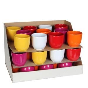 Pot rond Tusca - Coloré - Ø 8cm