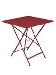 Table pliante Bistro - Piment - 71 x 71 cm