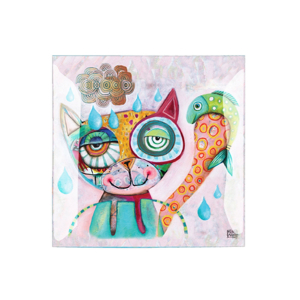 Coupelle Chat Allen - ENESCO - 20 x 20 cm