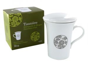 Tisanière en porcelaine d'art Hildegarde de Bingen - Aromandise - 0.25 L