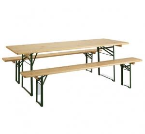 """Set Table de pique-nique + bancs """"Brasseurs"""" - JARDIPOLYS - 220 x 80 cm"""