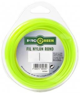 Fil Nylon rond - Progreen - vert fluo - Ø 2.4mm x 15m