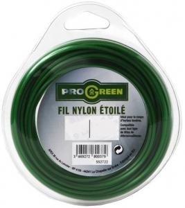 Fil Nylon étoilé - Progreen - vert - Ø 2.4mm x 15m