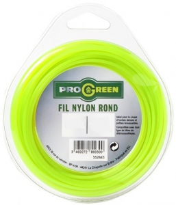Fil Nylon rond - Progreen - vert fluo - Ø 1.3mm x 15m