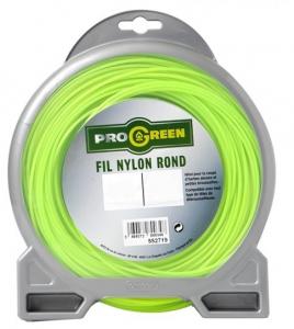Fil Nylon rond - Progreen - vert fluo - Ø 2.4mm x 83m