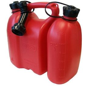 Bidon double pour carburant & huile - Oregon - rouge - 3L + 1.5L