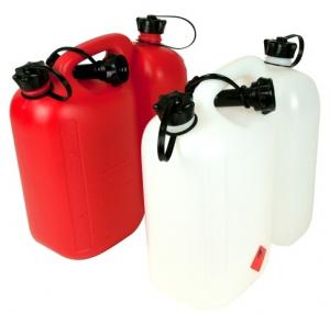 Bidon double pour carburant & huile - Oregon - blanc - 5L + 3L