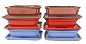 Pot rectangle basic - 20 cm - avec plateau