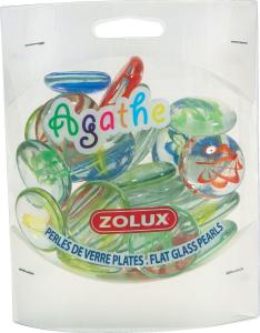 Perles de verre plates Agathe GM - Zolux