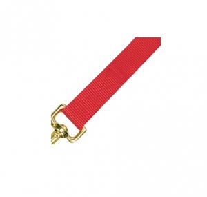 Licol nylon avec longe pour poulain - Rouge