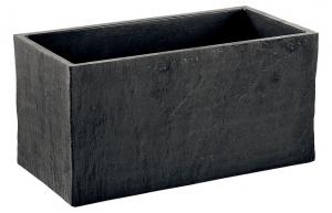 Bac rectangle Quiberon ardoise Hairie Grandon Longueur 60 cm