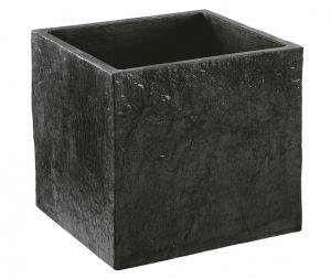 Bac carré Quiberon ardoise MM Hairie Grandon 49 x 49 cm
