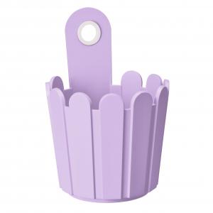 Petit pot de fleurs violet Landhaus EMSA - Dia. 15.5 x 22 cm