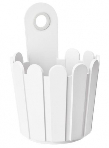 Petit pot de fleurs blanc Landhaus EMSA - Dia. 15.5 x 22 cm