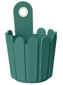 Petit pot de fleurs vert turquoise Landhaus EMSA - Dia. 15.5 x 22 cm