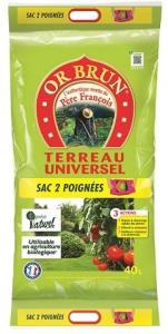 TERREAU UNIVERSEL 3 ACTIONS PÈRE FRANCOIS 40L - OR BRUN