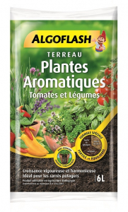 Terreau plantes aromatiques - Algoflash - 6 L.