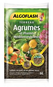 Terreau agrumes et plantes méditérranéennes - Algoflash - 6 L