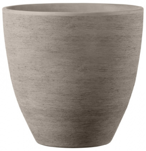 Vase California Primitivo haut - Deroma - grafite - 34 cm