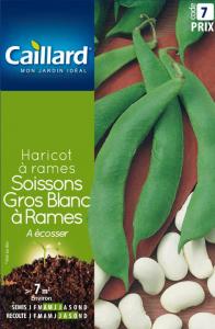 Haricot à rames Soissons Gros blanc - Graines - Caillard