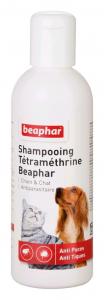 Shampooing anti-puces et anti-tiques à la tétraméthrine 200 ml - Beaphar