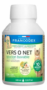 Vers O Net, solution buvable - Francodex - Pour chats et chatons - Flacon de 100ml