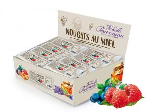 Nougats myrtilles et framboises au miel - Famille Perronneau - 30 gr