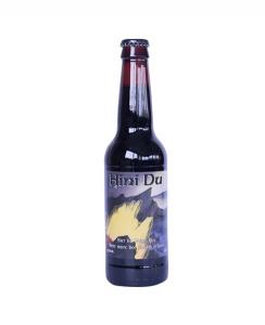 Bière noire Hini Du de type Stout - Brasserie An Alarc'h - 4,5° - 33 cl