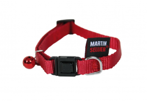 Collier Nylon Uni - Martin Sellier - 10 mm x 20/30 cm - Rouge