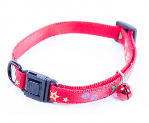 Collier réglable Fish & Star - Martin Sellier - 10 mm x 25/35 cm - Rouge