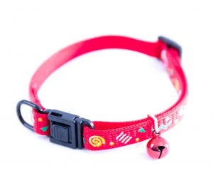 Collier réglable Cat Carnaval - Martin Sellier - 10 mm x 25/35 cm - Rouge