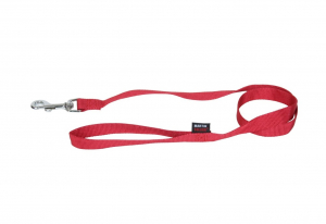 Laisse Nylon Uni - Martin Sellier - 10 mm x 1,2 m - Rouge
