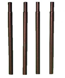 Pack 4 tubes ronds - pour pergolamétallique - fer